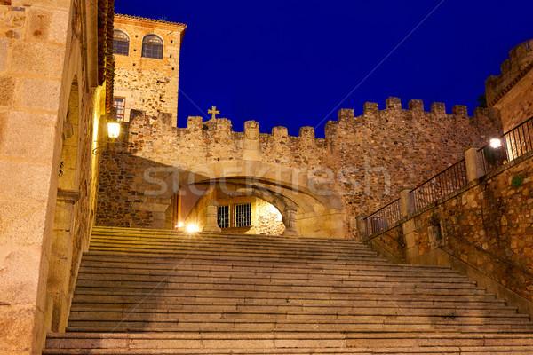 La boog Spanje star zonsondergang entree Stockfoto © lunamarina