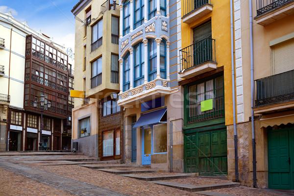 Zamora street Balboraz in Spain Via de la Plata  Stock photo © lunamarina