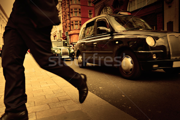 Londres taxi oxford rue westminster route Photo stock © lunamarina