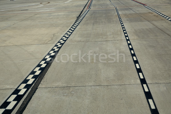 Airport paint floor signal lanes perspective Stock photo © lunamarina