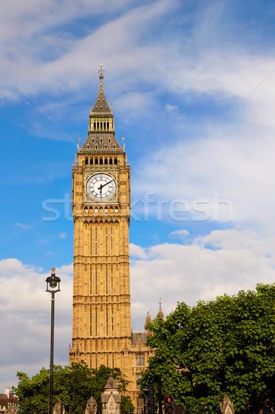 Big Ben klok toren Londen Engeland stad Stockfoto © lunamarina