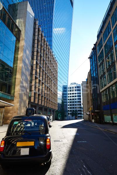 Лондон Финансовый район улице квадратный Англии такси Сток-фото © lunamarina
