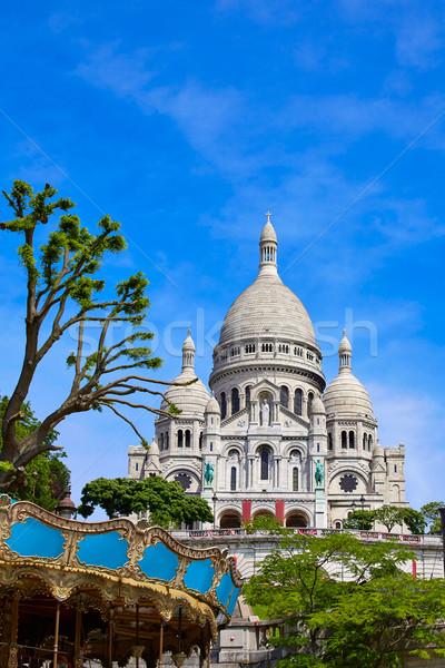 Montmartre Paris França cidade azul urbano Foto stock © lunamarina