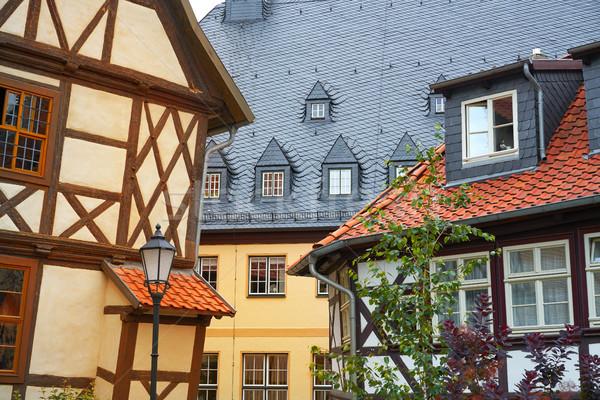 Wernigerode facades in Harz Germany Saxony Stock photo © lunamarina
