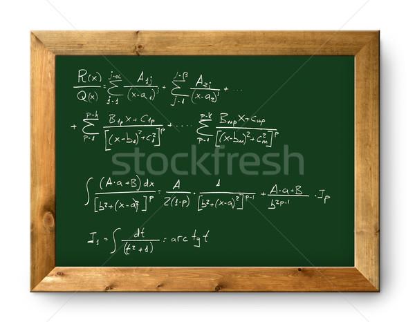 board green blackboard difficult mathematical formula Stock photo © lunamarina