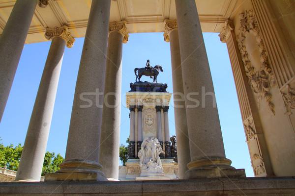 Madrid park meer paard kunst architectuur Stockfoto © lunamarina