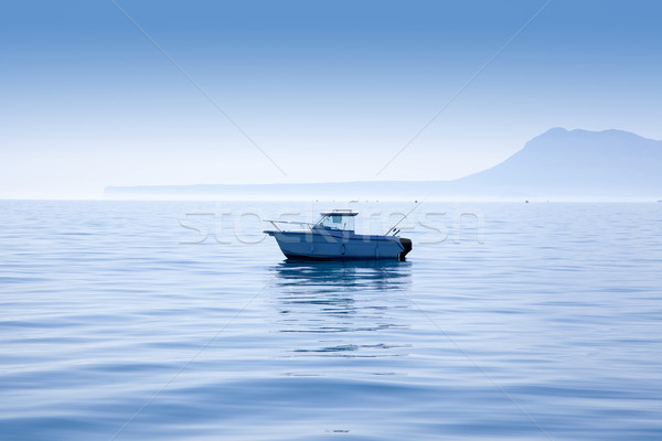 boat fishing in Mediterranean Denia with Mongo Stock photo © lunamarina