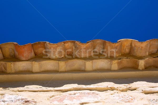 Glina dachu płytek okap szczegół kamień Zdjęcia stock © lunamarina