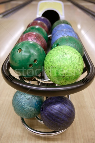 Bowling perspektif oyun Stok fotoğraf © lunamarina