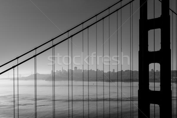 San Francisco Golden Gate Bridge black and white California Stock photo © lunamarina