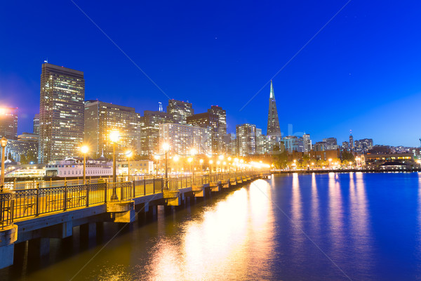 サンフランシスコ 桟橋 日没 カリフォルニア 米国 空 ストックフォト © lunamarina