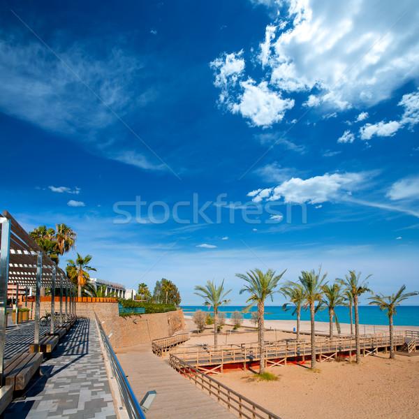 Spiaggia mediterraneo mare Spagna acqua natura Foto d'archivio © lunamarina