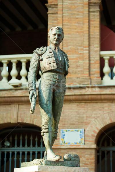 Plaza de toros de Valencia bullring with toreador statue Stock photo © lunamarina