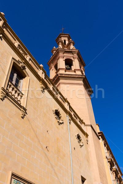 Valencia Navellos Church San Lorenzo square Spain Stock photo © lunamarina