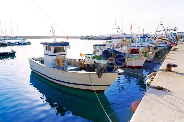 Javea Xabia fisherboats in port at Alicante Spain Stock photo © lunamarina