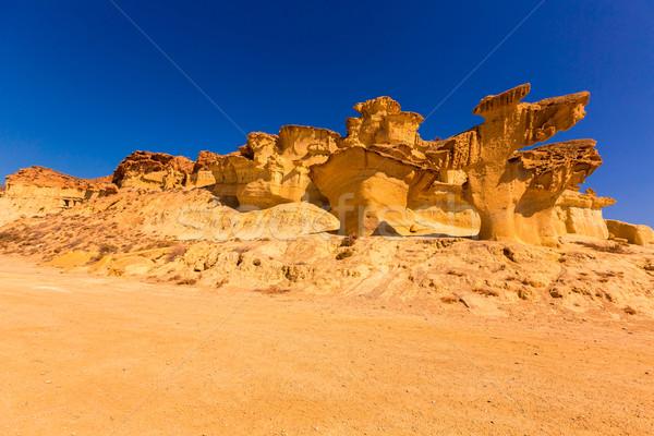 Bolnuevo Mazarron eroded sandstones Murcia Stock photo © lunamarina