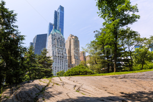 Central Park Manhattan New York gökyüzü bahar şehir Stok fotoğraf © lunamarina