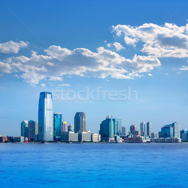 Сток-фото: Нью-Джерси · Skyline · реке · США · Нью-Йорк · служба