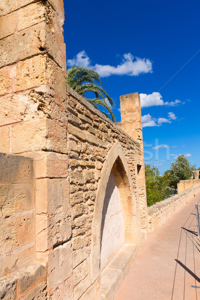 Alcudia Old Town fortres wall in Majorca Mallorca Stock photo © lunamarina