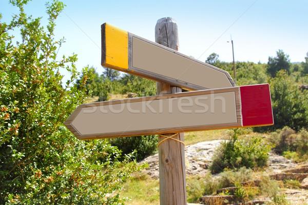Fa copy space forgalom jel szabadtér hegy Stock fotó © lunamarina