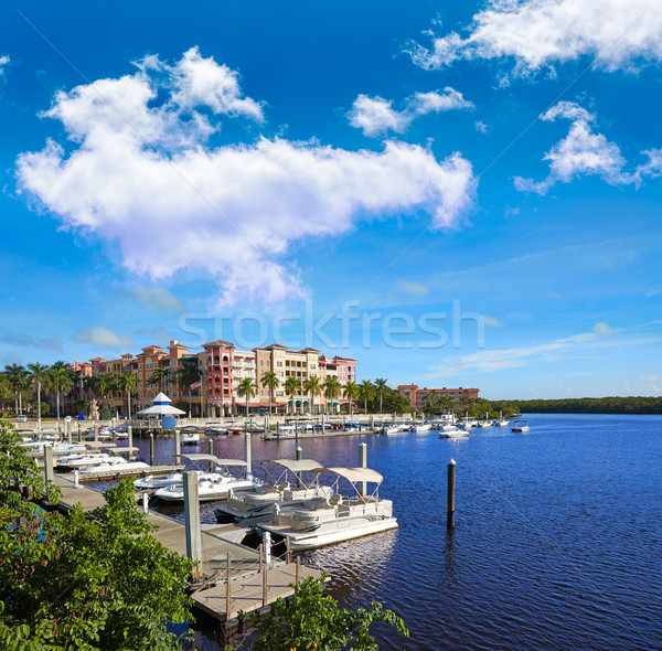 Naples marina Floride USA plage ville Photo stock © lunamarina
