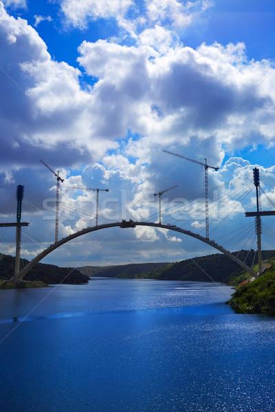 Bridge construction along Tajo river in Spain Stock photo © lunamarina