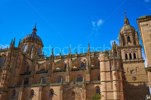 Katedrális homlokzat Spanyolország LA út égbolt Stock fotó © lunamarina