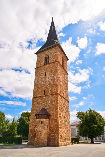 Stockfoto: Toren · Duitsland · voorjaar · stad · berg