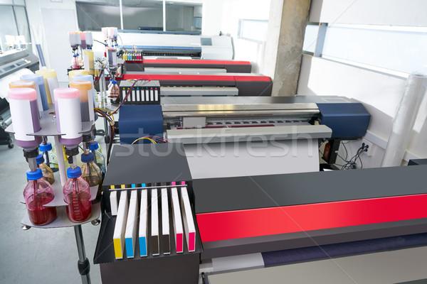 printing industry transfer paper printer for textile Stock photo © lunamarina