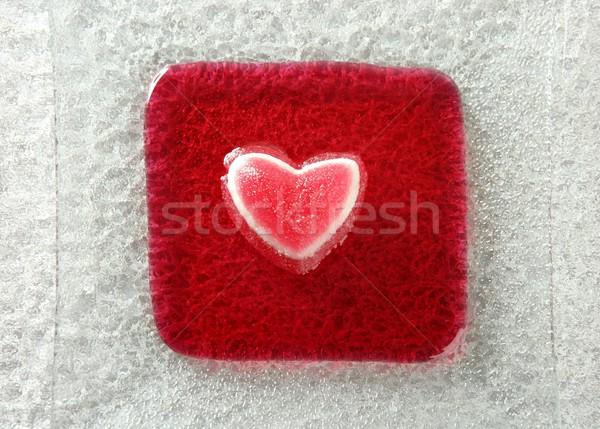 Yemek çilek kanlı kalp romantik Stok fotoğraf © lunamarina