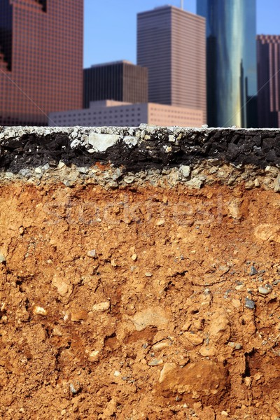 Stock photo: road excavation earthquake city cross section