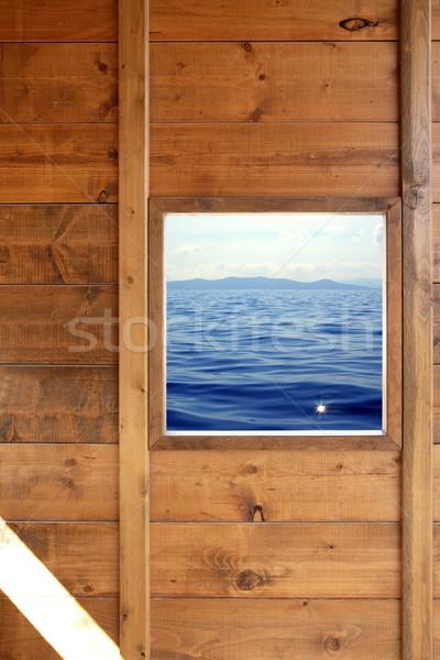 окна морской пейзаж мнение комнату Сток-фото © lunamarina