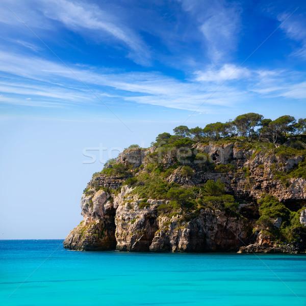 Stock photo: Cala Macarella Menorca turquoise Balearic Mediterranean