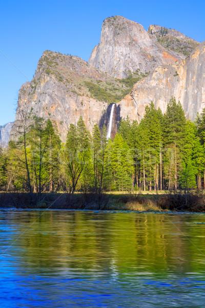Yosemite spadek wodospad parku California USA Zdjęcia stock © lunamarina