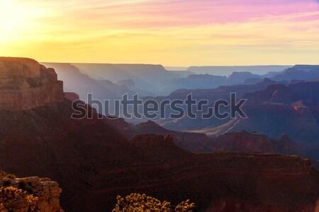 アリゾナ州 日没 グランドキャニオン 公園 ポイント 米国 ストックフォト © lunamarina