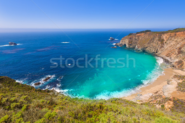California  beach in Big Sur in Monterey County Route 1 Stock photo © lunamarina