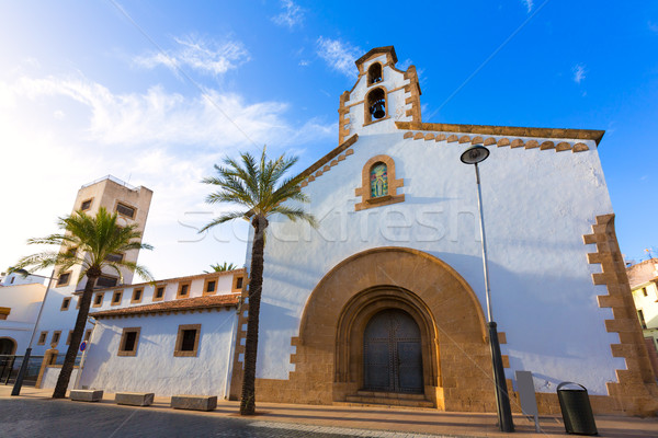 Javea Xabia city Placeta del Convent church Alicante Stock photo © lunamarina