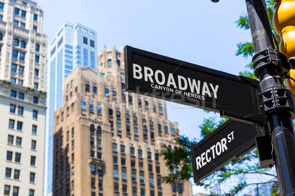 ブロードウェイ 道路標識 マンハッタン ニューヨーク 米国 ストックフォト © lunamarina