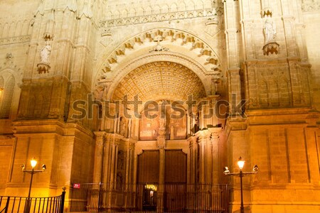 Palma de Mallorca Cathedral Seu sunset Majorca Stock photo © lunamarina