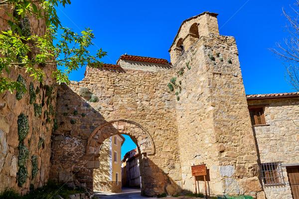 Canete Cuenca Puerta de la Virgen masonry Spain Stock photo © lunamarina
