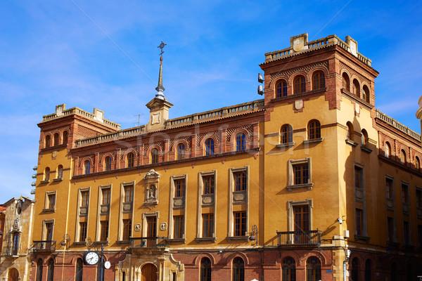 Vierkante Spanje naast kathedraal stad Stockfoto © lunamarina