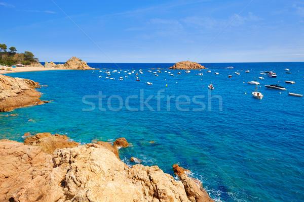 Tossa de Mar beach in Costa Brava of Catalonia Spain Stock photo © lunamarina