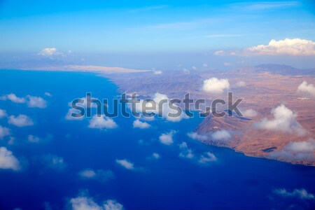 Aerial view of Fuerteventura at Canary Islands Stock photo © lunamarina