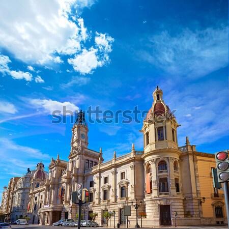 Stockfoto: Valencia · stad · gebouw · vierkante · hal · Spanje