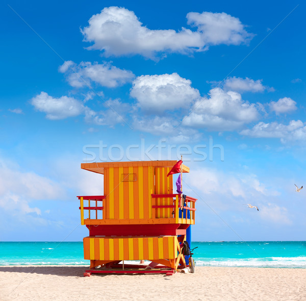 Foto stock: Miami · praia · torre · sul · Flórida · EUA