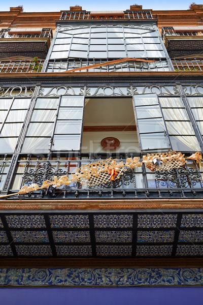 Espagne bâtiment ville mur Voyage architecture Photo stock © lunamarina