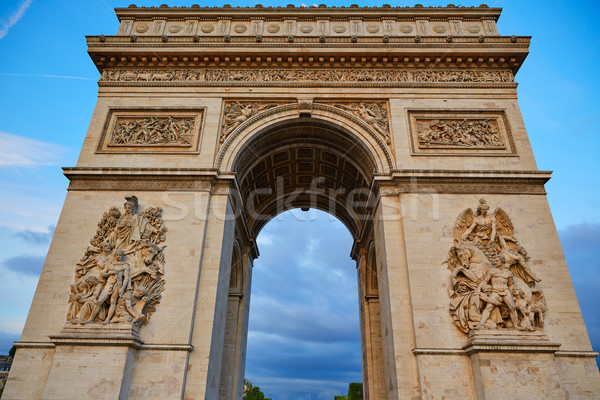 Arc de Triomphe in Paris Arch of Triumph Stock photo © lunamarina