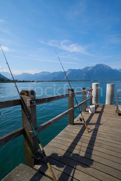 Lago Suíça céu água sol Foto stock © lunamarina