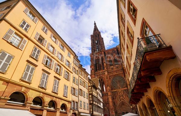 Strasbourg city in Alsace France Stock photo © lunamarina