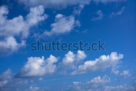 Caribbean aqua sea clouds in blue sky horizon Stock photo © lunamarina